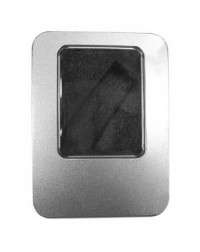 PC00033 Thumb Drive Metal Box With Black Sponge (Big)